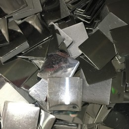 Стразы клеевые (камни) металл квадрат 20х20мм никель (100 штук)