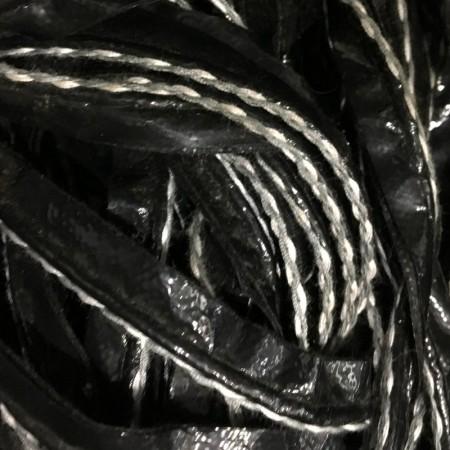 Кант лаковый кожезаменитель косичка ручной стежок серая нить (30 метров)
