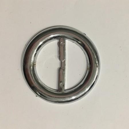 Пряжка пластиковая декоративная круг серебро 4см (Штука)