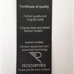 Этикетка накатанная 45мм (составник) Riccardo Certificate of quality заказная (100 метров)