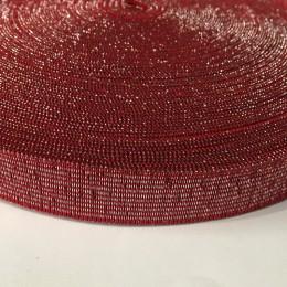 Резинка 20мм красный люрекс (25 метров)