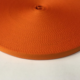 Тесьма репсовая производство 10мм оранжевая  (50 метров)