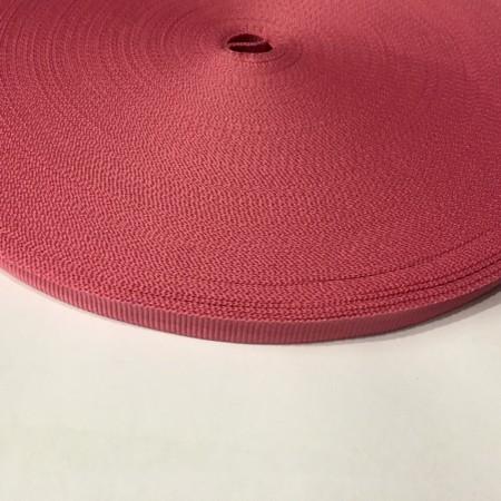 Тесьма репсовая производство 10мм розовый темный (50 метров)