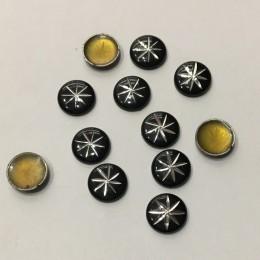 Стразы клеевые (камни) металл 10мм №2 (185 штук)
