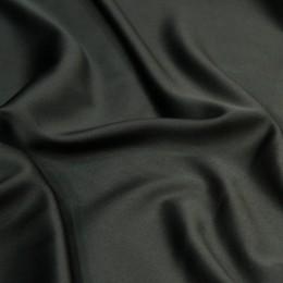 Ткань атлас королевский стрейч черный (метр )