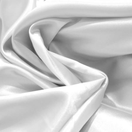 Ткань атлас стрейч тонкий белый (метр )
