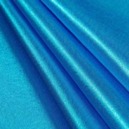 Ткань креп-сатин голубая бирюза (метр )