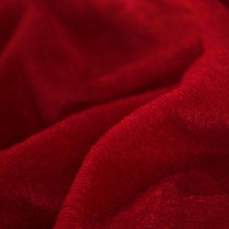 Ткань велюр стрейчевый красный (метр )