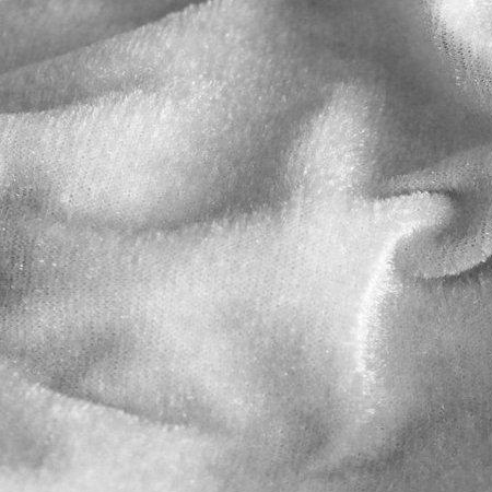 Ткань велюр стрейчевый белый (метр )