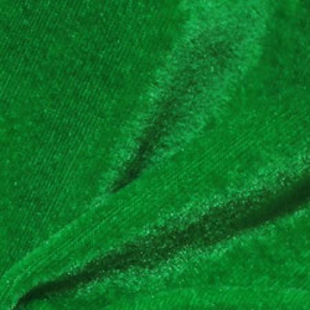 Ткань велюр стрейчевый зеленый (метр )