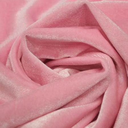 Ткань бархат стрейч розовый (метр )