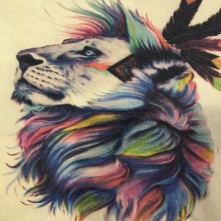 Прямая печать на ткани (цветная ткань полноцвет) 30х40см (Штука)