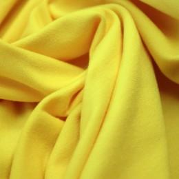 Ткань футер двунитка желтая (метр )