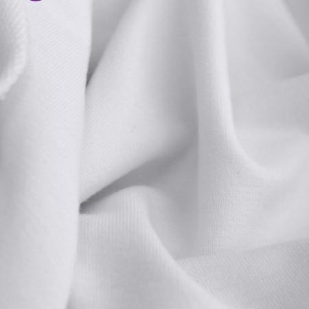 Ткань футер двунитка белая (метр )