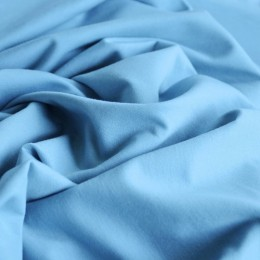Ткань футер двунитка голубой (метр )