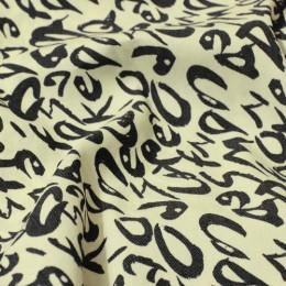 Ткань джинс-коттон принт 2 (метр )