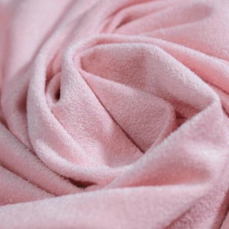 Ткань замша стрейч розовый (метр )
