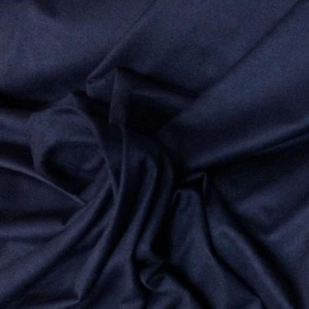 Ткань замша стрейч темно-синий (метр )