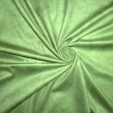 Ткань замша на дайвинге светло-зеленая (метр )