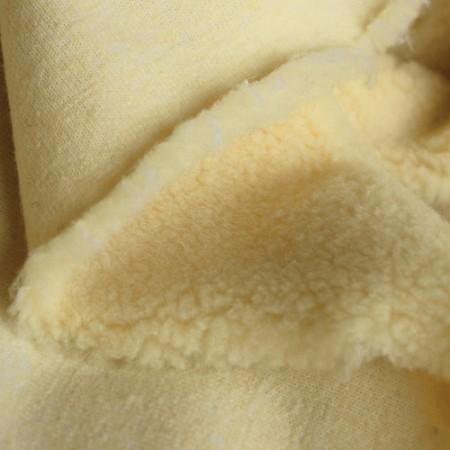 Мех искусственный овчина желтый (шерсть50%) (метр )