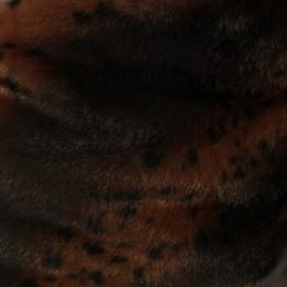 Мех искусственный норка полоса леопард (метр )