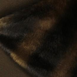 Мех искусственный норка полоса (метр )