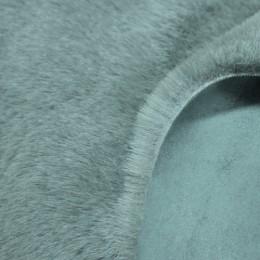 Мех дубляж голубой (мутон+замша) (метр )