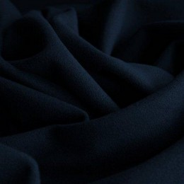 Ткань кашемир темно синий (воронье крыло) (метр )