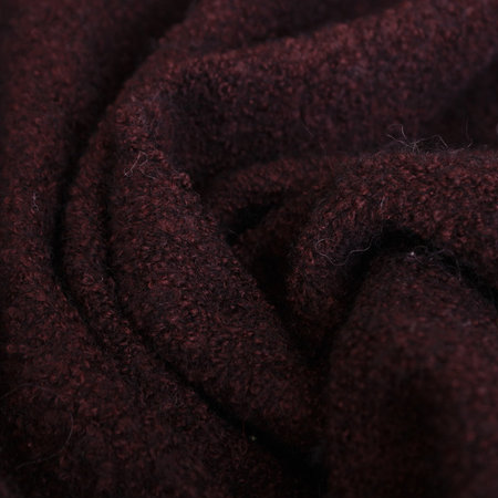 Ткань пальтовая букле бордовая (Турция)  (метр )