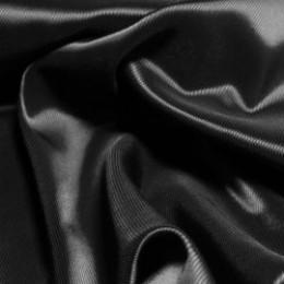 Ткань подкладочная нейлон стрейч диагональ черная  (метр )