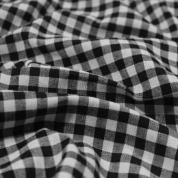 Ткань рубашечная клетка черно-белая (0,5см) (метр )