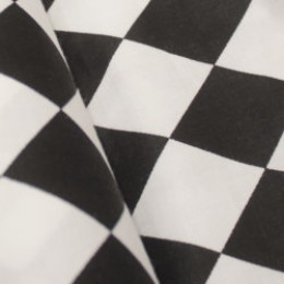 Ткань сатин хлопок принт шахматка 66117 (метр )