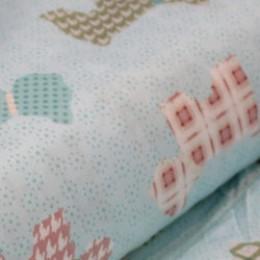 Ткань сатин хлопок принт собачки 66103 (метр )