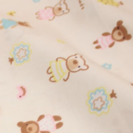 Ткань сатин хлопок принт медвежата 66104 (метр )