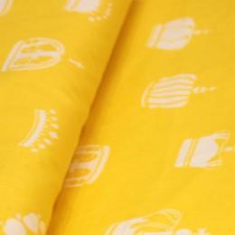 Ткань сатин хлопок принт короны 66112 (метр )