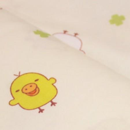 Ткань сатин хлопок принт птички 66115 (метр )