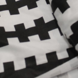 Ткань сатин хлопок принт абстракция 66122 (метр )