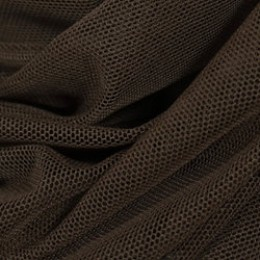 Ткань сетка стрейч шоколадная (метр )