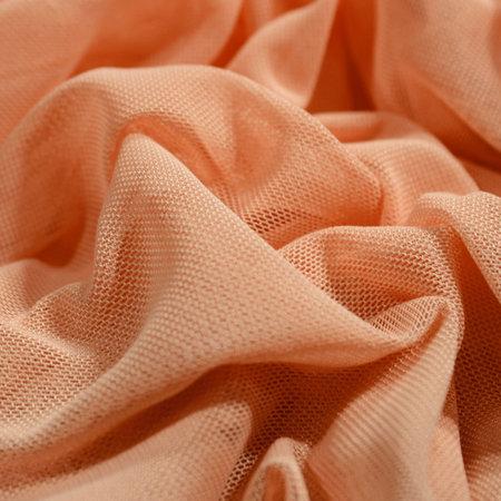 Ткань сетка стрейч персиковая (метр )