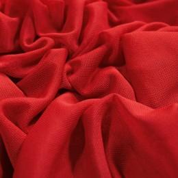 Ткань сетка стрейч красная (метр )