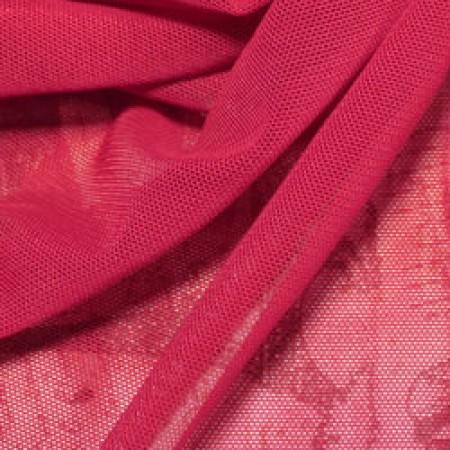Ткань сетка стрейч малиновая (метр )