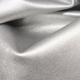 Ткань исскуственная стрейч кожа серебро 5890 (метр )
