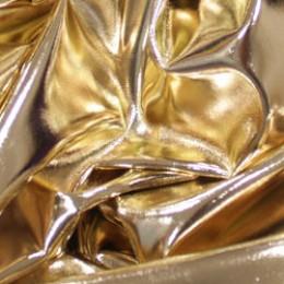Ткань исскуственная стрейч кожа золото (метр )