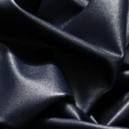 Ткань исскуственная стрейч кожа темно-синяя (метр )