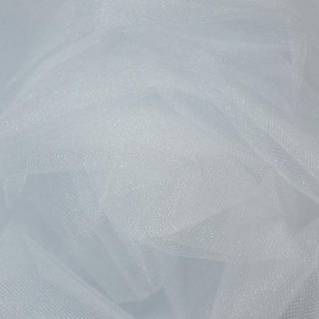Ткань фатин средней жесткости белый (метр )