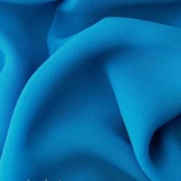 Ткань креп-шифон голубая бирюза (метр )