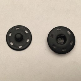 Кнопка металлическая пришивная 17мм черный (1000 штук)