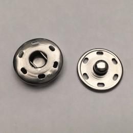 Кнопка металлическая пришивная 21мм никель (1000 штук)
