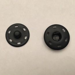 Кнопка металлическая пришивная 21мм черный (1000 штук)
