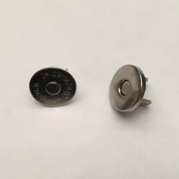 Кнопка магнит 14мм тонкая Турция никель (200 штук)